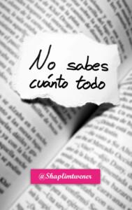 No sabes cuánto todo, de Santiago Martínez Ongay (Shaplim Twener) @ Librería Cervantes | Oviedo | Principado de Asturias | España